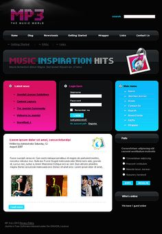 Blog Website Templates Mobile Stuff Website Templatesmatrix  Entertainment Website