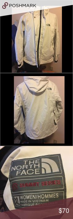 EUC NORTH FACE Summit Series Women's XL Hoodie EUC NORTH FACE Summit Series Women's XL Hoodie Jacket White North Face Jackets & Coats