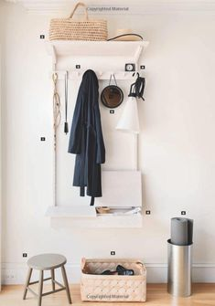 Remodelista: The Organized Home: Simple, Stylish Storage Ideas for All Over the House Small Alarm Clock, Home Organization, Organizing Ideas, Spring Cleaning, Declutter, Bathroom Hooks, Wardrobe Rack, Shelves, Interior Design
