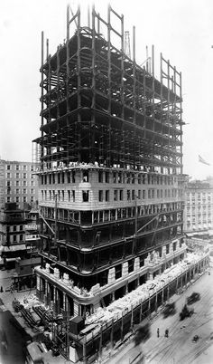 vintage everyday: Old Photos of the Flatiron Building Under Construction, New…