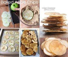 【 リンゴチップス】 リンゴを薄くスライスし、シナモンとブラウンシュガーをまぶす。焦げない程度にオーブンで焼くだけ