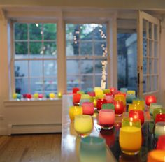 glassybaby candle holders - so colorful!