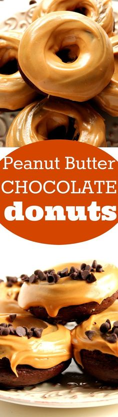 Peanut Butter Glazed Chocolate Donuts Recipe - my new quick chocolate peanut butter treat that is as much fun to make and eat. I could eat the glaze with a spoon! So good!