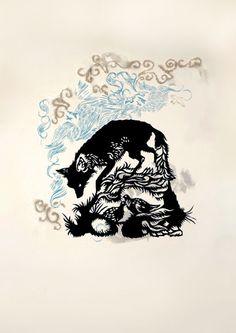 lovely fox print