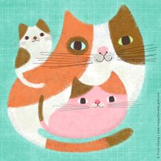 kitty family | flora chang, Happy Doodle Land