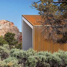 This desert house covered in sheets of rusty Corten steel is next up in our roundup of the best residential architecture in Utah. Find out more about the project on dezeen.com/tag/american-houses-roundups Photography is by Imbue Design. #architecture #Utah #house #houses