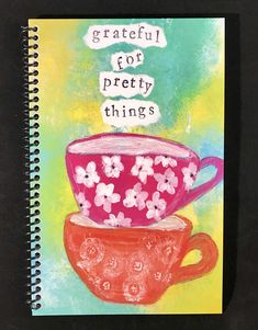Grateful for Pretty Things x Coil Bound Gratitude Journal, Stationery, Practice Gratitude, Daily Gratitude Notebook