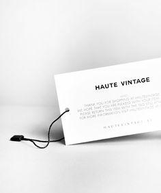 Haute Vintage - Branding by moodley brand identity, via Behance