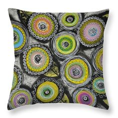 Flowers Throw Pillow featuring the painting Flower Series 7 by Graciela Bello