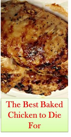 The Best Baked Chicken to Die For - Chicken recipes - BakedChicken Skinless Chicken Recipe, Baked Chicken Breast, Chicken Breasts, Garlic Chicken, Fried Chicken, Chicken Marinade Recipes, Oven Chicken Recipes, Chicken Meals, Salmon Recipes