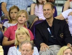 Lady Louise & father Prince Edward enjoying the sports performances.