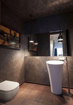 Baño oscuro  #baños #bathroom