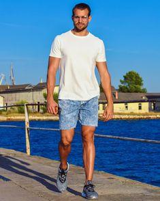 Summer StreetStyle  Street fashion, Summer fashion, denim jean shorts, river island. white t-shirt, addidas shoes, transparent glasses