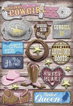 karen foster stickers | Thumbnail of Karen Foster Scrapbook Cardstock Stickers Cowgirl Sticker