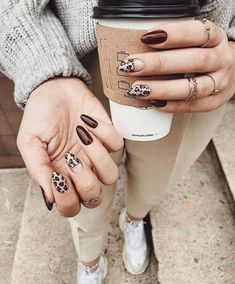 50 fabulous free winter nail art ideas 2019 - page .- 50 fabelhafte kostenlose Winter Nail Art Ideen 2019 – Seite 24 von 53 – Nails winter – Hybrid Elektronike 50 fabulous free winter nail art ideas 2019 – page 24 of 53 – Nails winter – - Nail Art Diy, Diy Nails, Cute Nails, Pretty Nails, Cute Fall Nails, Nails Opi, Nail Manicure, Glitter Nails, Fabulous Nails