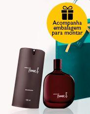 Presente Natura Humor 2 Masculino - Desodorante Colônia + Desodorante Spray + Embalagem Desmontada
