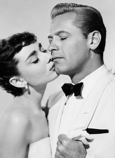 Audrey Hepburn and William Holden in Sabrina, 1954