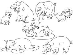 70% OFF SALE Pigs Clipart - Digital Vector Farm, Animal, Baby Pig, Pigs, Farm Piggy, Pigs Clip Art