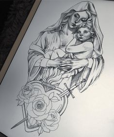 452 Likes, 16 Kommentare – Madeleine Hoogkamer ( … Jesus Tattoo Design, Angel Tattoo Designs, Tattoo Design Drawings, Tattoo Sleeve Designs, Tattoo Sketches, Sleeve Tattoos, Heaven Tattoos, God Tattoos, Badass Tattoos