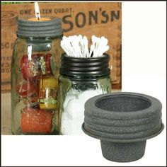 Mason Jar Tapered Cup Lid Barn Roof