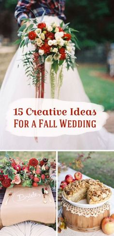 Fall weddings bring out all the best of the season! From warm colors, to comfort food; autumn nuptials take a bit of out of the box thinking.  And good news, there is still plenty of time to start planning! If you see a Fall wedding in your future, read on as eBay shares fifteen creative ideas that should start your inspiration flowing!