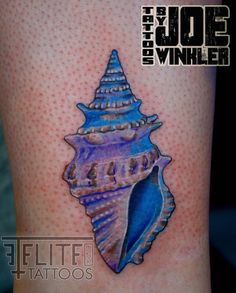 #conch #seashell #tattoo by Joe Winkler Elite Ink Tattoos of Myrtle Beach, SC