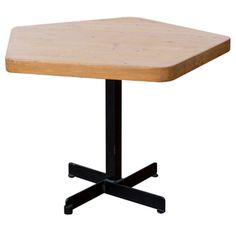 Charlotte Perriand Les Arcs table.  Perfect table base. Perfect.