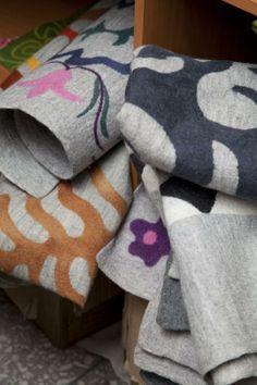 Handmade Felt Blankets
