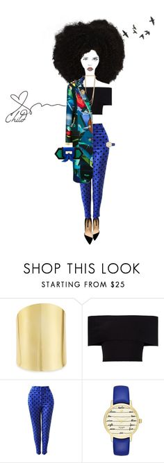 """The Love Child"" by foreverfreshie ❤ liked on Polyvore featuring Lydell NYC, Rosetta Getty, Versace, Kate Spade and Balmain"