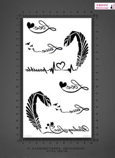 Envío libre, 30sets/lot, corazón electrocardiograma equipo de transferencia tatuajes temporales de moda a prueba de agua pegatinas, cuerpo pegatina en Maquillaje de Belleza y Salud en Aliexpress.com