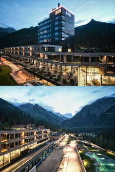 Gradonna Mountain Resort | Design Hotel | Austria | http://lifestylehotels.net/en/gradonna-mountain-resort-chalets-hotel | An outside view of the hotel.