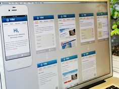 This post is more like sharing how I work... I'm designing mobile version of viminteractive.com. Here I created all screens with basic lines to see big picture, now time to polish them slightly :) ...