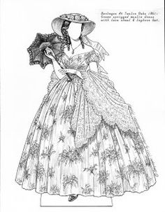 Paper Dolls Archive, Gone With The Wind Collection, Selznick's Heroines, Scarlett O'Hara, Scarlett 15 Years Later, Plunkett (gowns)