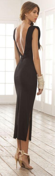 street style / black dress