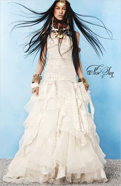 Most beautiful Boho wedding dress I've ever seen