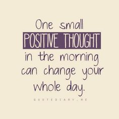 Positive thinking in the morning to start your day.  #Recovery