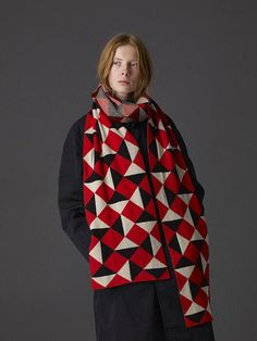 As well as designing for her own company, Jo has also created one off pieces for international fashion houses Yohji Yamamoto, Comme des Garçons and Marnie. On this first day of Christmas, we are giving away a Jo Gordon geometric jacquard shawl, worth £410, to one lucky reader.
