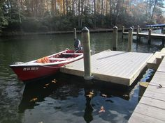 Step 3:  Attaching Inside Dock Hardware and Decking Wood Floating Dock