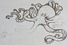 octopus by blackfrogink.deviantart.com on @deviantART