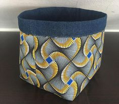 Items similar to Denim and African fabric storage basket on Etsy African Interior, African Home Decor, Boho Summer Dresses, Trendy Dresses, Fabric Storage Baskets, Fabric Basket, Robe Diy, Sculpture Textile, African House