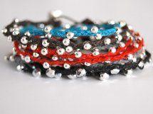 Irish Linen Wrap Bracelet   AllFreeJewelryMaking.com