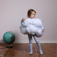 Mira en Juntines cómo hacer un disfraz de nube casero para niños - Juntines.com