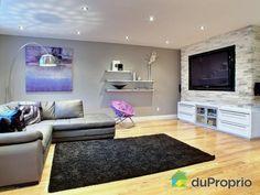 un salon moderne pour une jolie maison de rivire des prairies - Image Jolie Salon