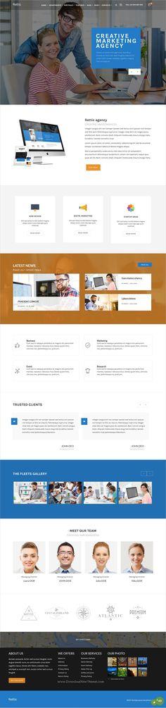 Rettic is a wonderful 8in1 responsive #WordPress theme for stunning #corporate business websites download now➩ https://themeforest.net/item/rettic-multipurpose-wordpress-theme/17795916?ref=Datasata