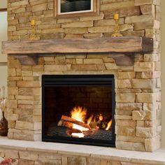 Pearl Mantels Shenandoah Traditional Fireplace Mantel Shelf - 412-