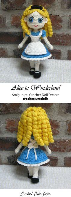 Amigurumi Crochet Doll Pattern & Tutorial for the cute Alice in Wonderland by Crochet Cute Dolls