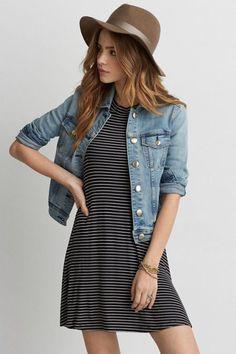 AEO Denim X Jacket (Coat), Women's, Size: Medium, Medium Indigo