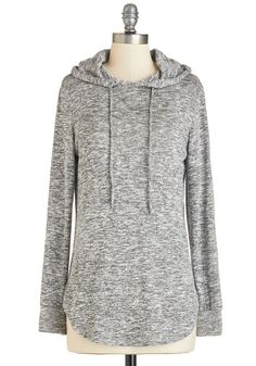 Snuggled in Softness Top. Wrap yourself in casual charm with this heather-grey top! #grey #modcloth