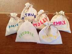 Kids wedding favour bags, courtesy of Louise :) x