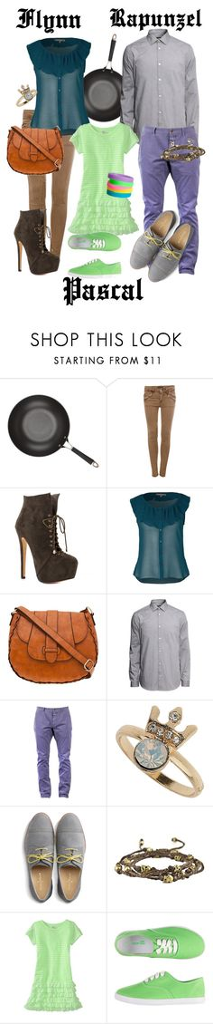 """""""Gender swap Disneybound Family"""" by totallytrue ❤ liked on Polyvore featuring Anolon, Pull&Bear, Luichiny, A